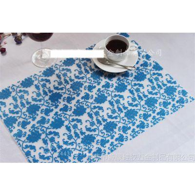 供应餐厅用品 半透明硅胶餐垫 防滑隔热锅垫 酒店餐桌垫