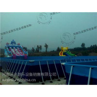 充气游泳池|文安县游泳池|沃金游乐(在线咨询)