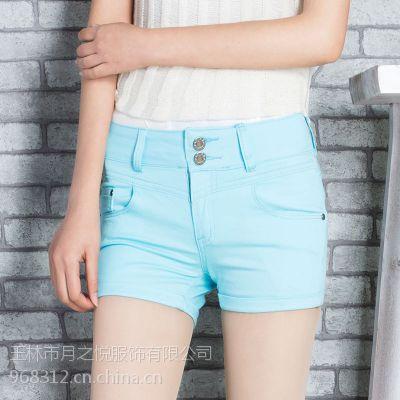 2015夏季新款女牛仔短裤弹力显瘦牛仔女裤色彩短裤女百搭