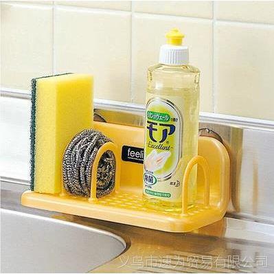 浴室吸盘收纳架 厨房卫浴用品置物架 杂物整理可分隔吸盘式沥水架