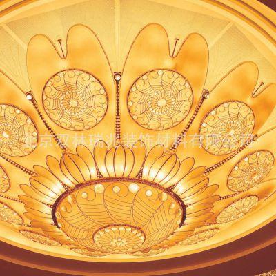 厂家专业定制酒店大堂 贵宾厅圆形花瓣云石LED灯