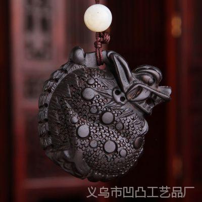 雕刻手把件汽车挂件包挂件貔貅招财乌木工艺品配件 DWS003