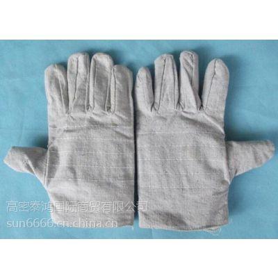 厂家批发单层加厚帆布手套耐油耐磨机械机床加大劳保电焊防护手套