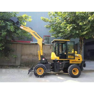 轮式挖掘机 多功能挖掘机 小型挖掘机四轮驱动挖掘机