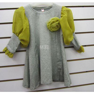 供应2012秋装  女童  可爱 韩版打底衫
