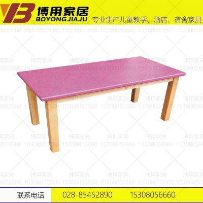 四川幼儿园课桌椅 实木学习桌椅