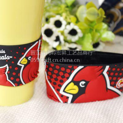 厂家定制PVC软胶杯套卡通可爱创意杯套