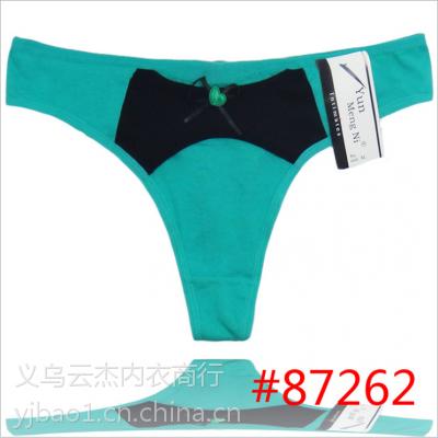 【云梦妮】厂家直销可爱蝴蝶结女士丁字裤外贸热销全棉女士内裤
