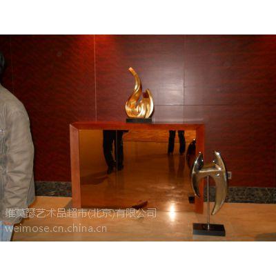 供应北京温泉酒店软装设计金属雕塑摆件酒店不锈钢雕塑摆件
