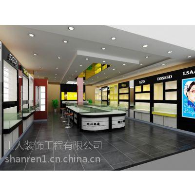 山东淄博珠宝货架柜台制作,商场店面装修安装效果图