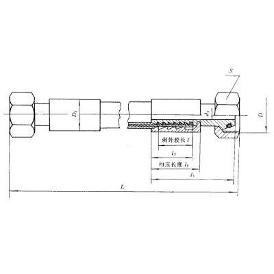 供应JB/T 6142.1锥密封钢丝编织胶管总成| JB/T 6142.1胶管总成|内锥带O型圈胶管总成