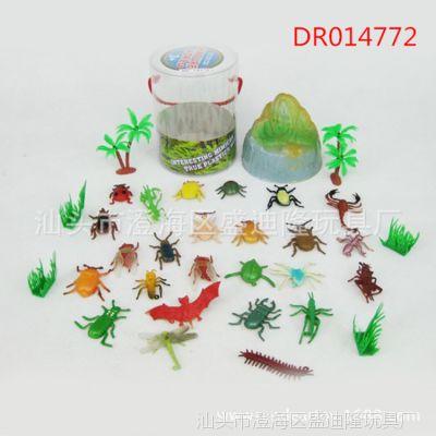 甲虫昆虫静态森林小动物植物玩具 幼儿早教认知仿真动物套装批发