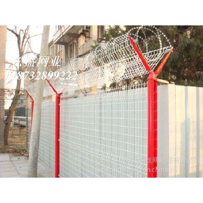 供应内蒙古松盛V型支架机场护栏网