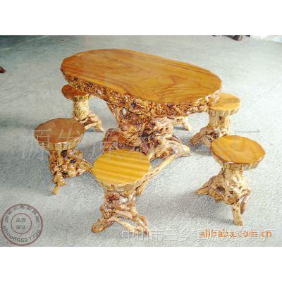 27现货特价 根雕圆茶几 椭圆形 天然根雕艺术品 实木家具 -价格 厂家