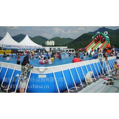 重庆充气游泳池,支架游泳池,充气水滑梯