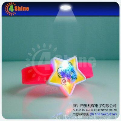 供应【厂家直销】硅胶led手环,创意闪光手环,赠送礼品