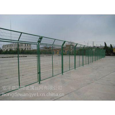 深圳铁路安全防护网@鸿德园林绿色围栏网@绿色框架浸塑护栏网