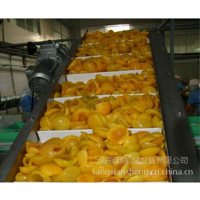 上海冠鹏机械供应罐头输送机,爬坡输送机