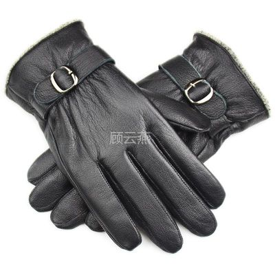 供应加厚男式真皮手套休闲冬季保暖 男士鹿纹绵羊皮手套机车手套A60