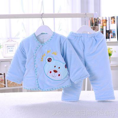 批发儿童棉衣 韩版婴幼儿棉衣水晶绒 婴儿加厚棉袄 宝宝保暖棉服