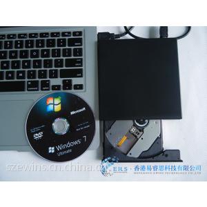 供应包邮全新黑色USB2.0外置移动蓝光COMBO刻录机6X高速 DVD-RW支持3D