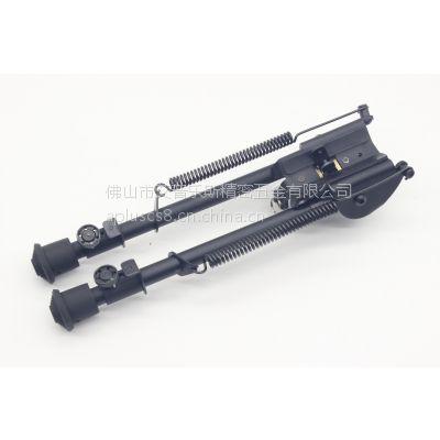 9寸制锁两脚架 伸缩两脚架 Harris弹簧折叠战术两脚架 CS战术两脚架