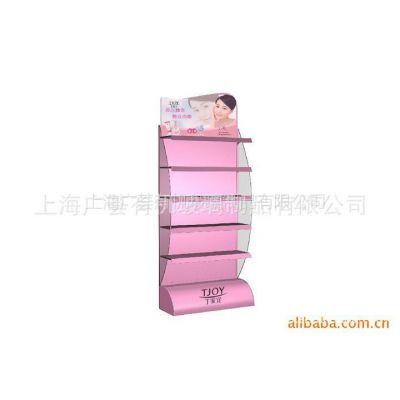 供应生产销售可加印品牌logo化妆品有机展示架