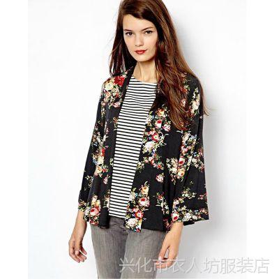 G18 外贸原单 欧洲站女装品牌同款印花和服式女士外套 夏季新款