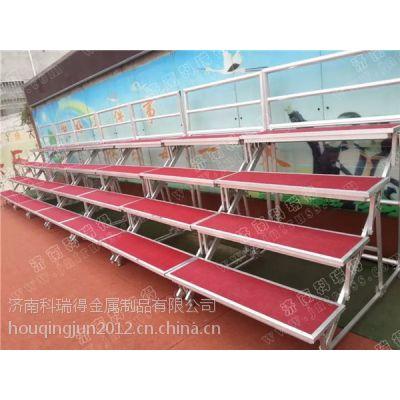 济南科瑞得低价热销大型钢铁看台 四层固定合唱台 学校专用合影台