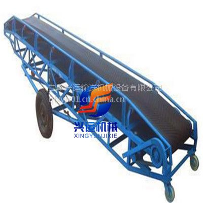 钢丝绳牵引带式输送机,装卸货柜车传输带,定做加厚的圆管皮带输送机