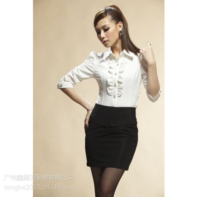 供应厂家直销2015新款特卖女式修身衬衫 女士衬衫批发定做 女式衬衫厂家直销