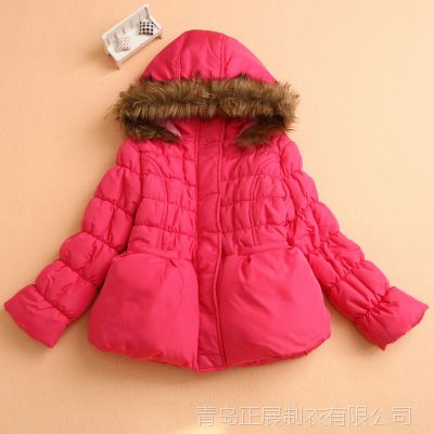 秋冬款童装 中小女童保暖加绒棉衣棉袄 韩版时尚儿童上衣 外套