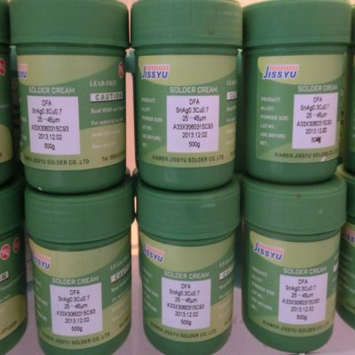 供应及时雨JISSYU高温环保免洗焊锡膏 Sn99/Ag0.3/Cu0.7