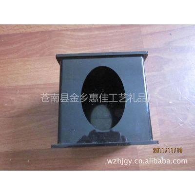 供应【厂家特价直销】有机亚克力纸巾盒 餐巾纸盒 金色花纹亚克力盒