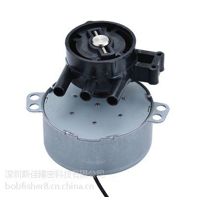 专业生产牛角扇永磁同步电机/微型减速马达/全金属铁齿/扭力大