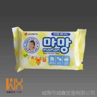 韩国进口正品洗衣皂 LG儿童洗衣皂maman婴儿去灰洗衣皂薄荷香190g