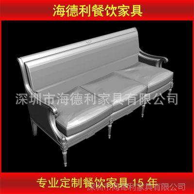 优惠促销 供应日式茶餐厅卡座沙发 优质真皮时尚沙发组合
