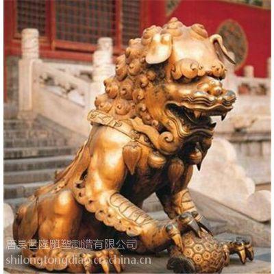 河北大型铜狮子,世隆雕塑,大型铜狮子摆件