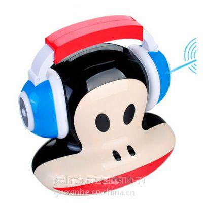 厂家直销插卡USB音响无线蓝牙音箱带灯LED泡沫吹跑