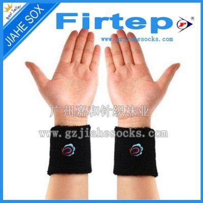 供应广州针织长兰桂坊涤纶毛巾运动护腕 运动羽毛球护套