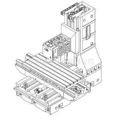 供应台正立式加工中心光机TOM-1890工作台面尺寸 900*2000