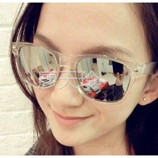 供应韩版复古铆钉眼镜 框架眼镜反光水银墨镜太阳镜9261