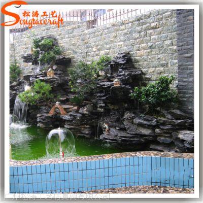 松涛工艺新品假山流水喷泉家居风水轮摆件创意树脂假山