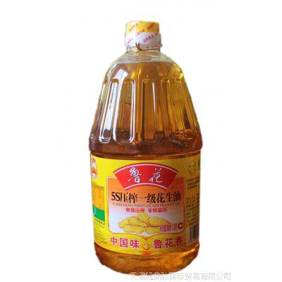 鲁花5S压榨一级花生油1.8L  天津兴耀批发市场兴河粮油批发部