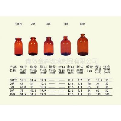 供应10ml-100ml棕色玻璃瓶