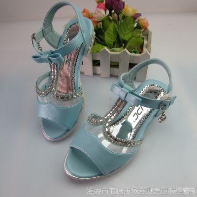 新品童鞋女童凉鞋公主鞋淘宝爆款儿童鞋聪杰B8505大牌直销批发