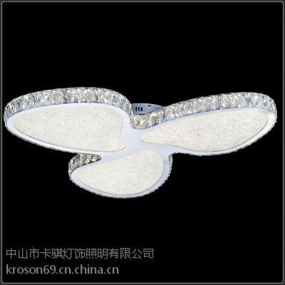 现代简约水晶led时尚吸顶灯 创意客厅吸顶灯 酒店房间灯卡骐灯饰照明