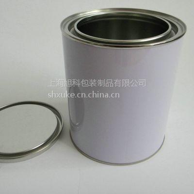 上海旭科1L涂料油漆罐宝钢铁罐1kg化工样品罐油脂油墨罐马口铁茶叶罐
