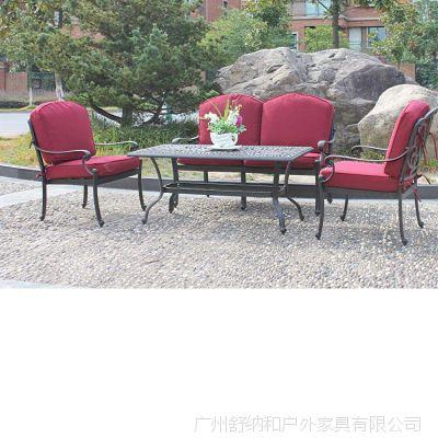 室外铝制铁艺成套家具 庭院花园金属沙发 户外铸铝沙发家具