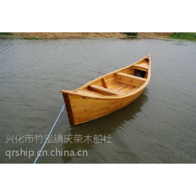 庆荣木业厂家直销欧式手划船 两头尖木船 餐厅船 影楼道具船 装饰船
